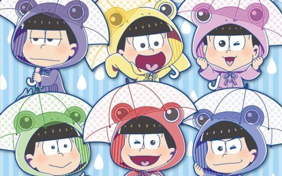 おそ松さん雨季★ウキフェア開催!雨かっぱに傘の六つ子が登場